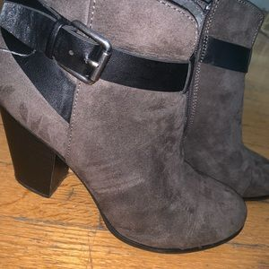 Shoes - Gray/Black booties